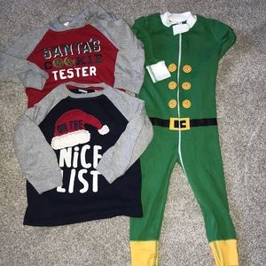 Toddler boys 2 T Christmas shirts and onsie